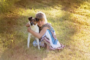 Teach kids responsibility with family dog