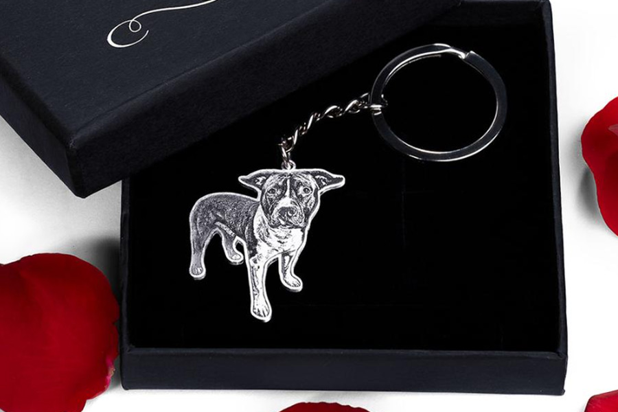 pet engraved keychain, gifts for pet lovers